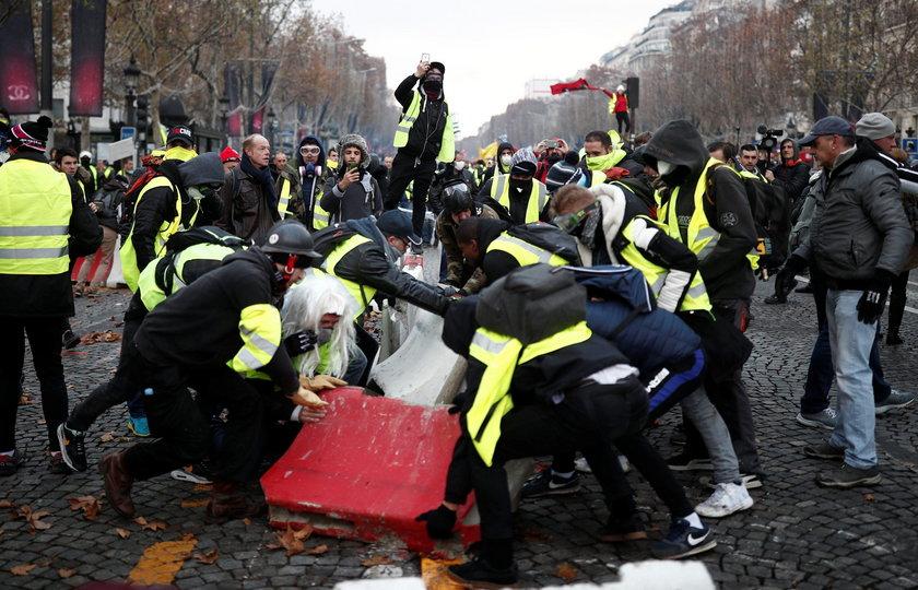 Zamieszki w centrum Paryża. Policja użyła gazu