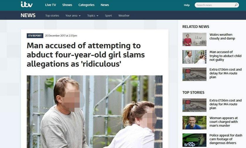 Polak chciał porwać 4-latkę? Przerażające zeznania świadków