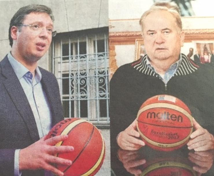 Aleksandar Vučić i Božidar Maljković