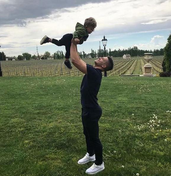 Luka Jović sa sinom