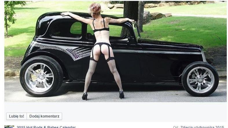 Miłośniczki pięknych aut pozują na golasa...