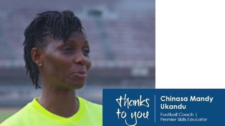 Chinasa Mandy Ukandu: a football coach, a Premier Skills coach educator who works with children that share her love and passion for football.  (British Council)