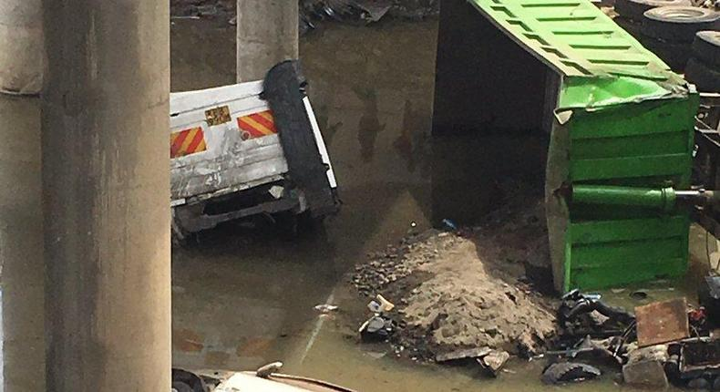 Accident on Athi river bridge (courtesy)