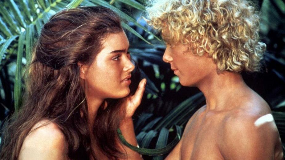 """Brooke Shields i Christopher Atkins w filmie """"Błękitna laguna"""""""
