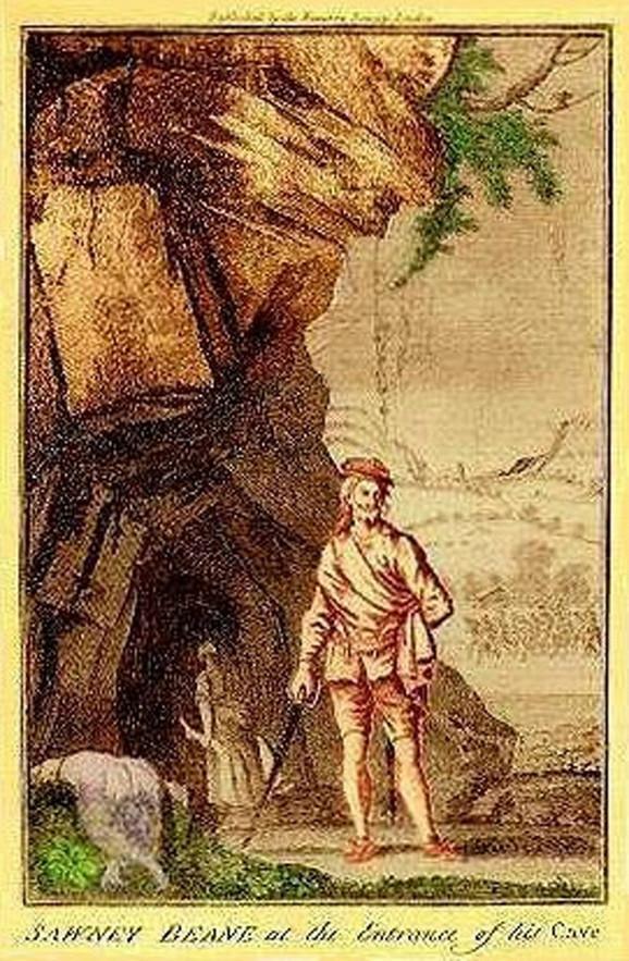 Sauni Bin pred pećinom