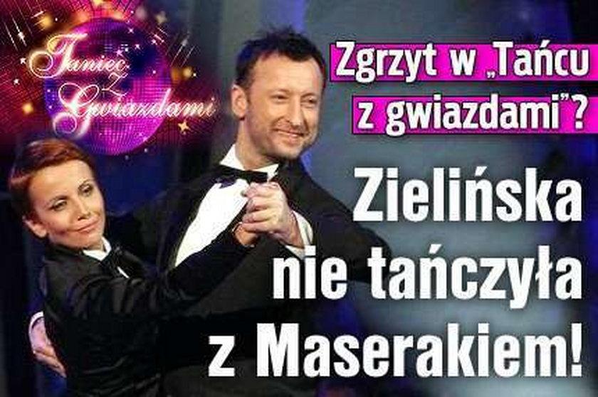 """Zgrzyt w """"Tańcu z gwiazdami""""? Zielińska nie tańczyła z Maserakiem!"""