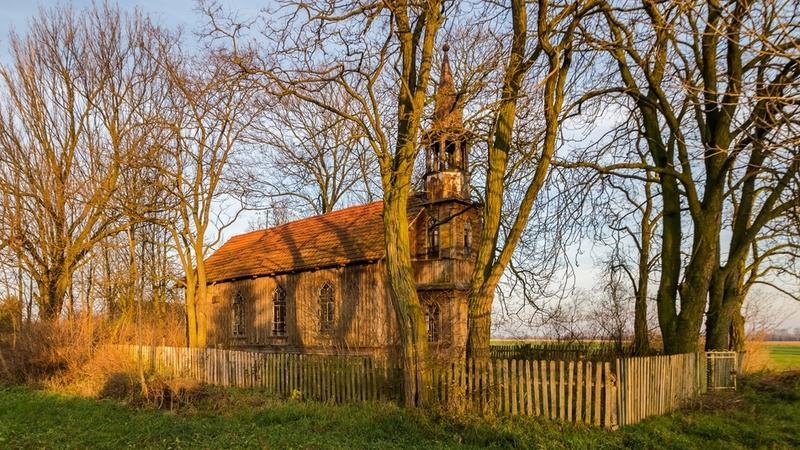 Opuszczony kościół Mariawitów w Kamionce