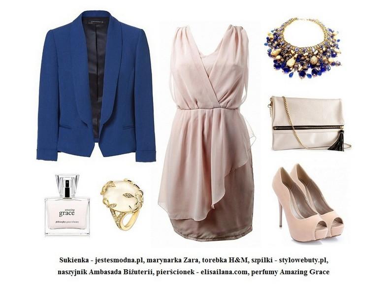 Pastelowa sukienka na trzy sposoby