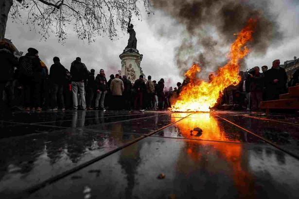 Protest studentów we Francji