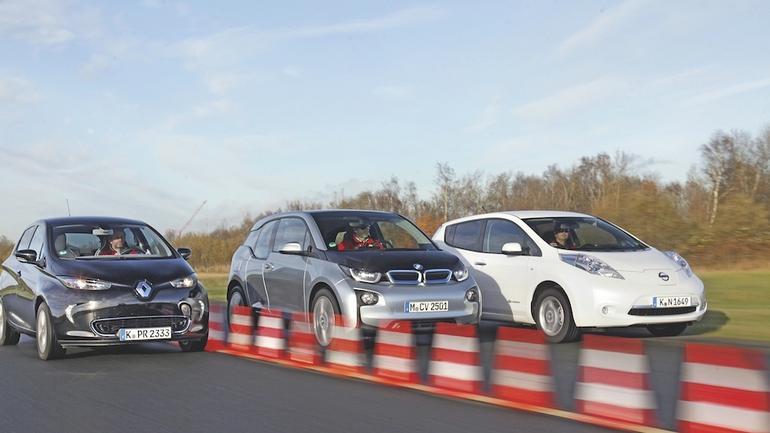 Renault Zoe, BMW i3, Nissan Leaf