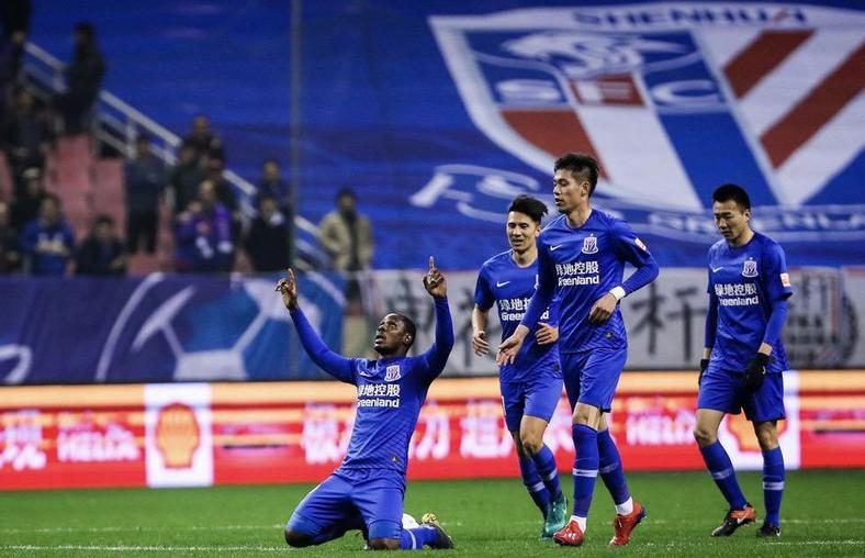 Odion Ighalo netted his first goal for Shanghai Shenhua but it was enough to prevent a loss(Twitter / Shanghai Shenhua)