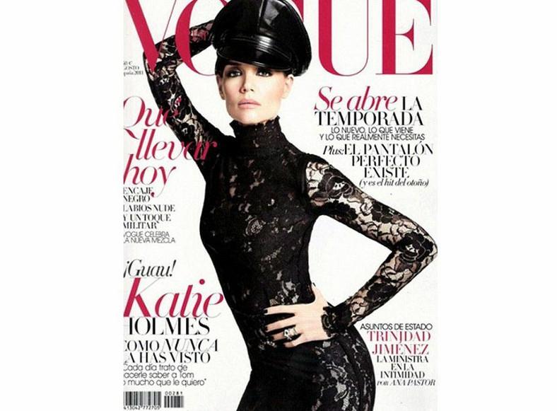 Katie Holmes na okładce hiszpańskiego Vogue'a