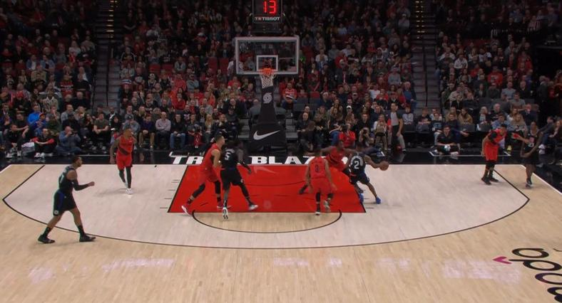 Backboard view is great for seeing the game from the same perspective as the players.