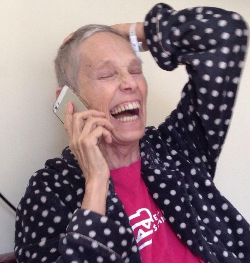 uśmiechnięta Małgorzata Braunek