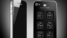 iPhone z sześcioma zegarkami