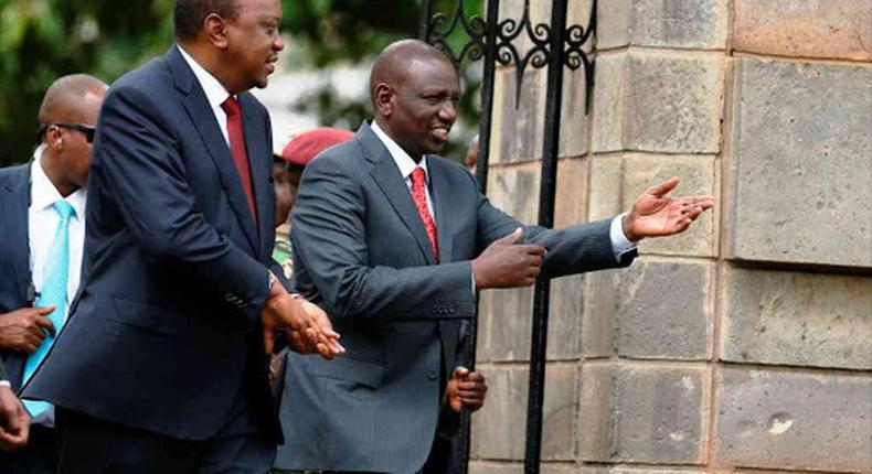 File image of President Uhuru Kenyatta and DP William Ruto