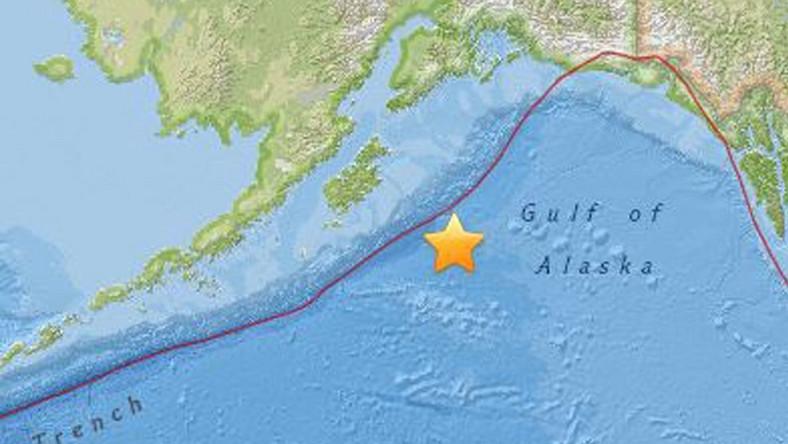 Trzęsieni ziemi u wybrzeży Alaski