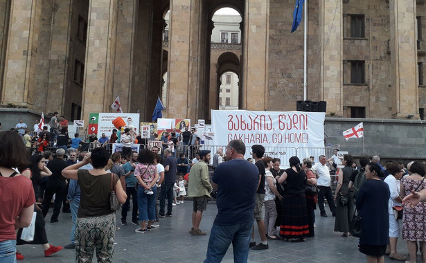 Protest w Tbilisi Fot. Karolina Baca-Pogorzelska i Michał Potocki