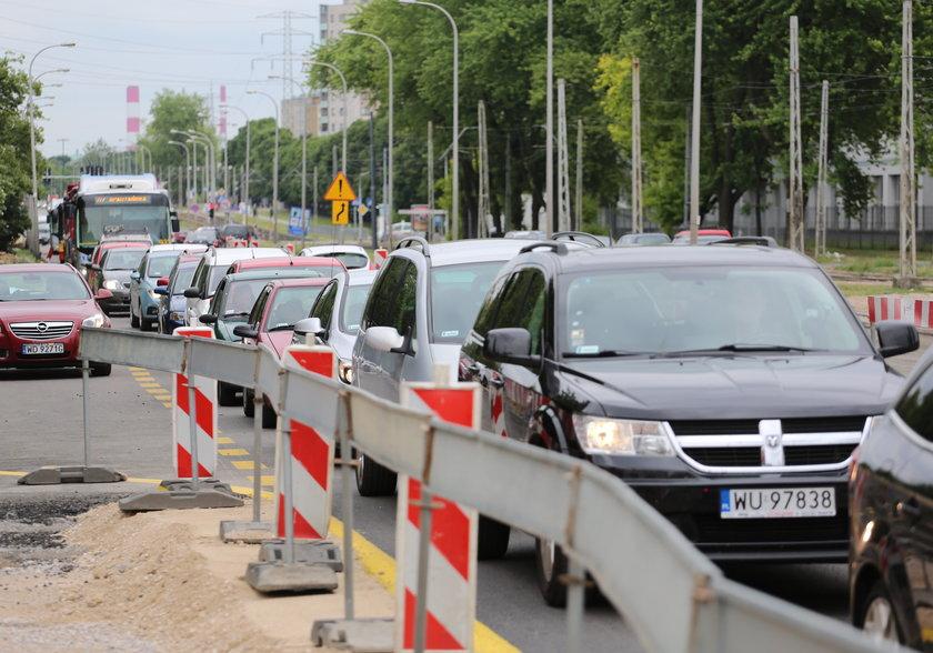 Przebudowa Wołoskiej zablokowała Mokotów