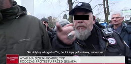 Zaatakował dziennikarkę TVP, został zatrzymany przez policję