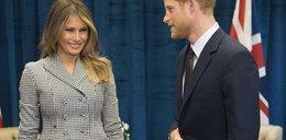 Dziwny gest księcia Harry'ego na spotkaniu z Melanią Trump
