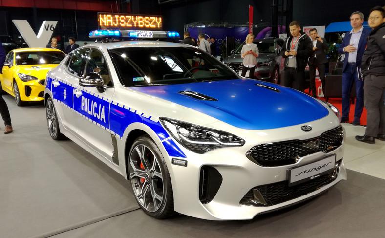 Kia Stinger GT jako radiowóz polskiej policji