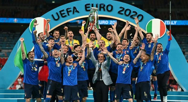 Euro winners Italy will face South American champions Argentina next June Creator: Michael Regan
