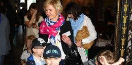 Joanna Racewicz z synem. Kilka dni temu skończył 7 lat