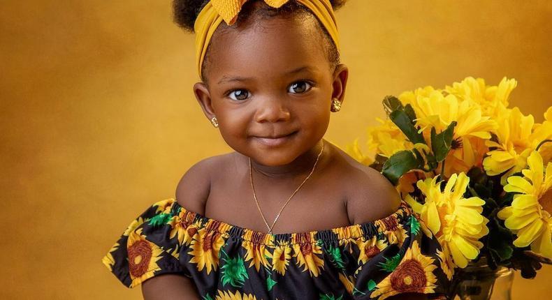 Simi and Adekunle Gold's daughter Adejare Kosoko [Instagram/SymplySimi]