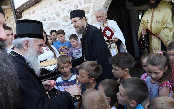 Patrijarh Irinej i iguman Dečana Sava u Velikoj Hoči