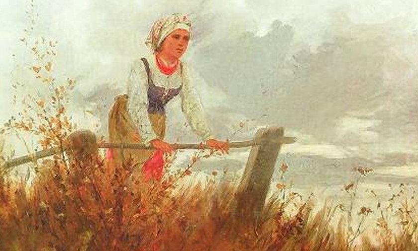 Obraz Gęsiarka autorstwa Romana Kochanowskiego
