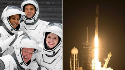 SpaceX has launched a billionaire-funded crew of space tourists toward orbit - the first civilian mission of its kind