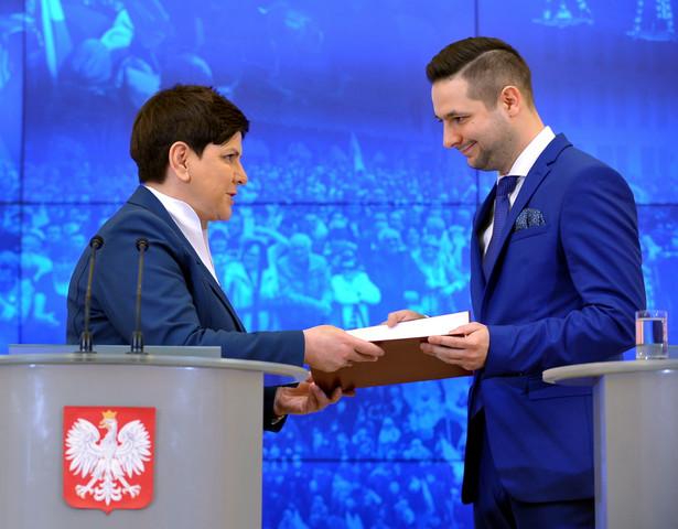 Premier Beata Szydło i Patryk Jaki, PAP/Marcin Obara