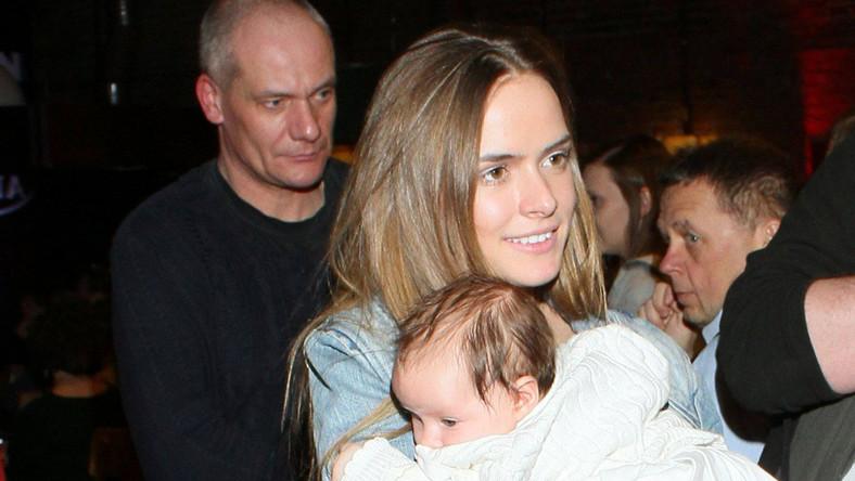 Piotr Zelt, Monika Ordowska z córką