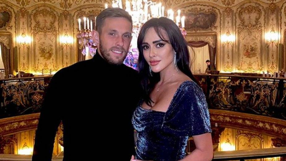 Maciej Rybus z żoną Laną