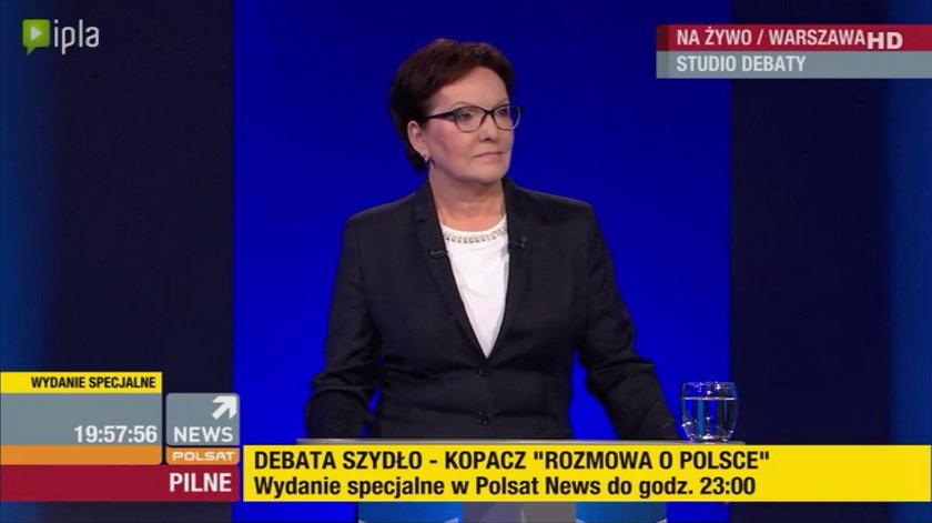 Debata Kopacz - Szydło. Pierwsza przyszła kandydatka PiS