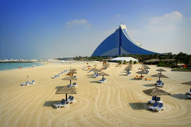 Dubaj, plaża Jumeirah