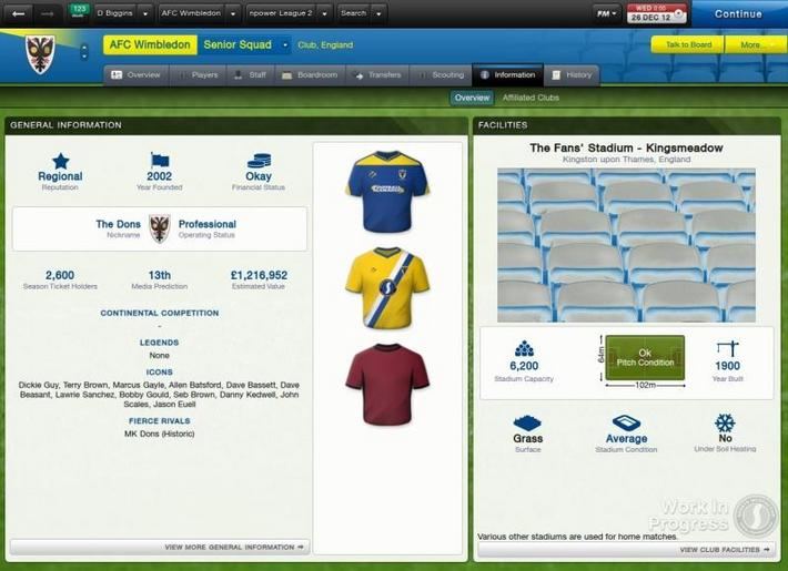 Football Manager 2013 AFC Wimbledon_ Overview-2