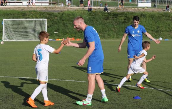 Aleksandar Radojičić se družio sa najmlađima