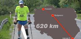 Przebiegł Polskę na jednej nodze. Wielki wyczyn pana Józefa