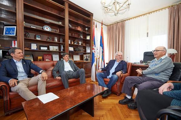 Đorđe Višacki, Žarko Zečević i Božidar Maljković sa Ladanijem