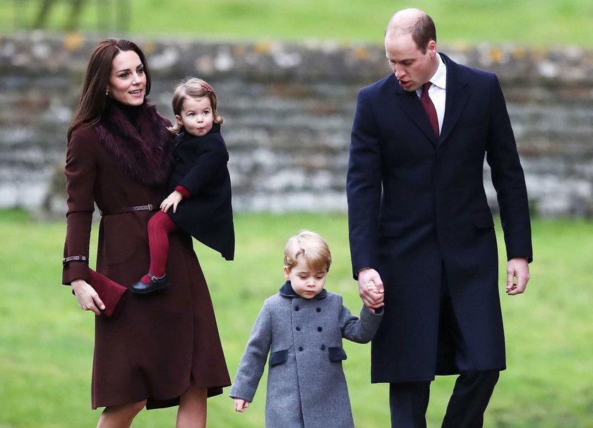 Książę William z żoną i dziećmi