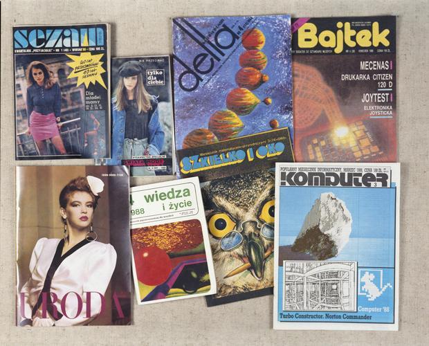 Okładki polskich gazet z 1987 roku