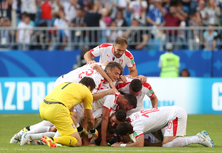 Radost igrača Fudbalska reprezentacija Srbije Fudbalska reprezentacija Kostarike