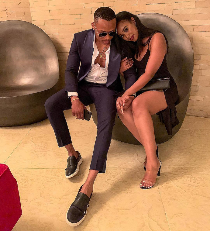 Otile Brown with his girlfriend