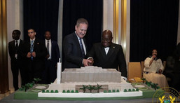 Nana Addo with National Cathedral design