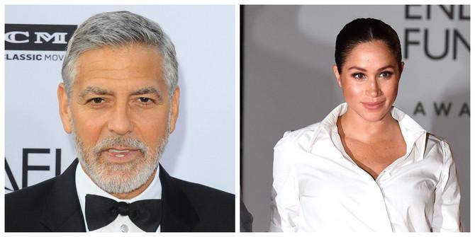 Džordž Kluni i Megan Markl