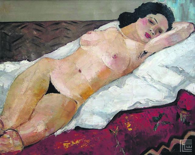 Ajša -  ležeći ženski  akt, 1929. godina