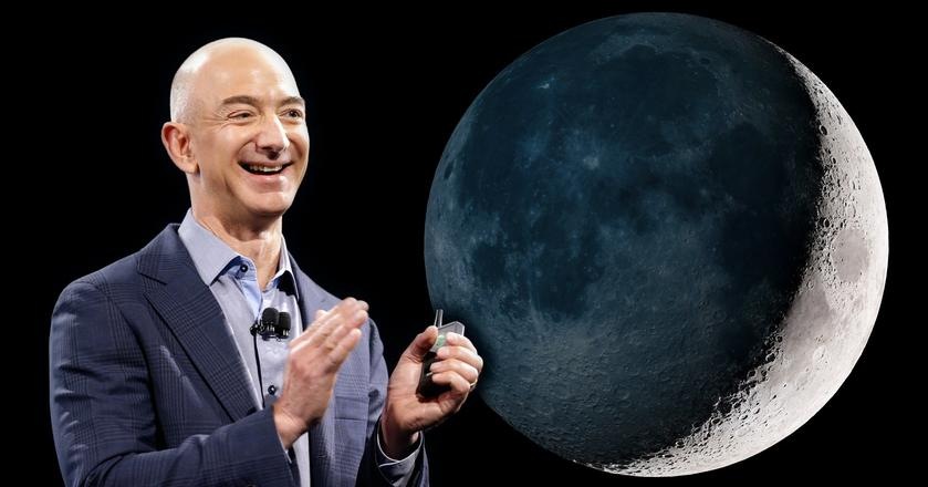 Jeff Bezos, założyciel Blue Origin (i Amazona), chce skolonizować ziemski księżyc