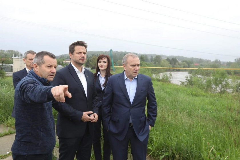 Rafał Trzaskowski, Joanna Frydrych i Grzegorz Schetyna